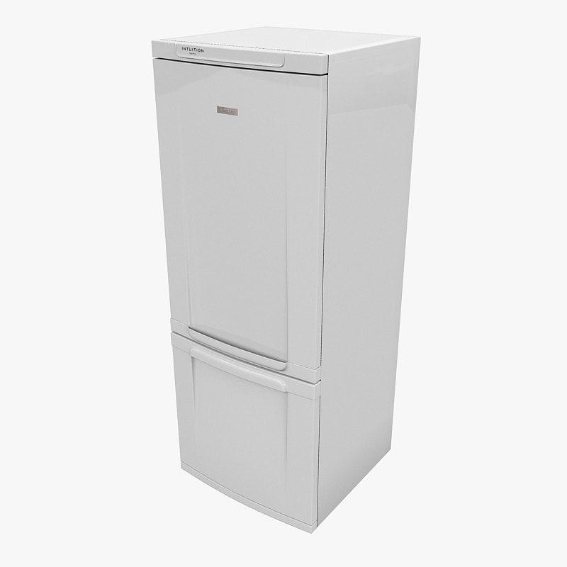 3d model fridge electrolux intuition space