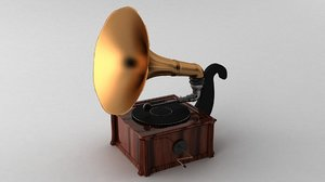 3ds max old gramaphone