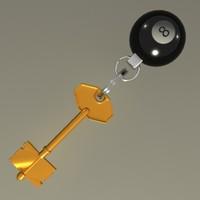 key keyring 3d lwo