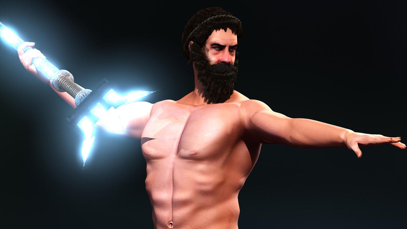 greek gods rigged 3d model