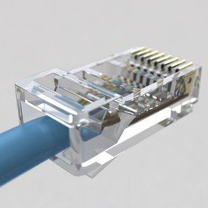 plug ethernet 3d model