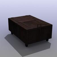 wooden box 3d max