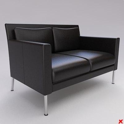 3ds sofa loveseat