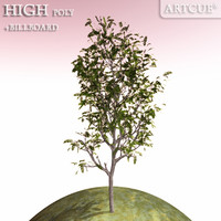 3d 3ds tree high-poly leaves