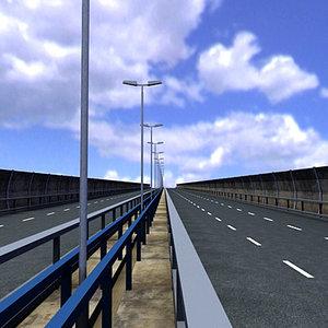 3d model autopista highway segment