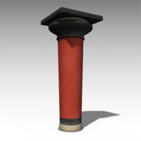 ancient minoan columns 3d obj