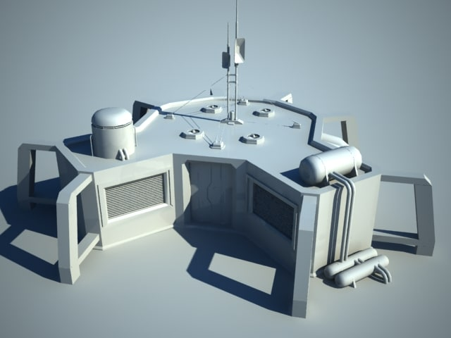 sci-fi house 3ds
