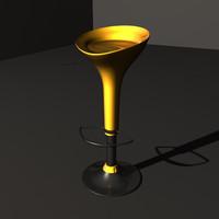 3ds max modern bar stool chair