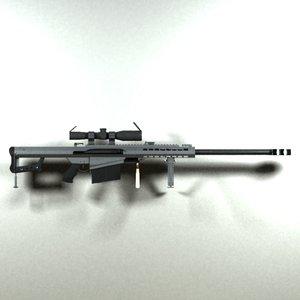 3ds max barrett m82a1 m82