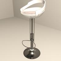 3ds modern bar stool seat