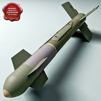 3d model aircraft bomb gbu-15 blu-109