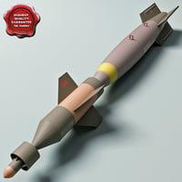 aircraft bomb gbu-16 paveway 3d model