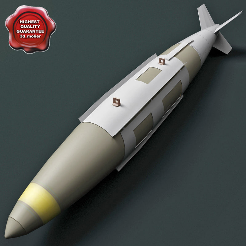 3d aircraft bomb gbu-31 jdam model