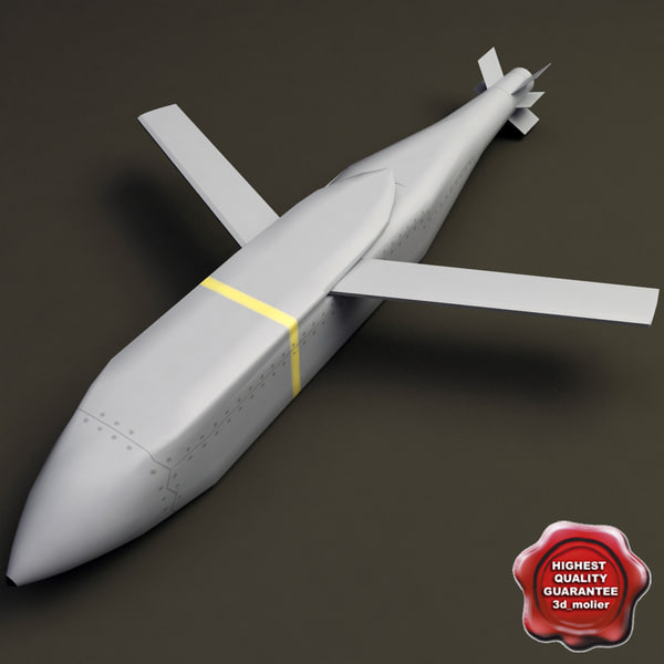 aircraft missile agm-154 jsow 3d 3ds