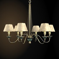 baga tradtional chandelier 3d model