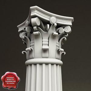 3d model corinthian order column
