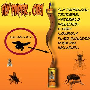 fly paper 3d model