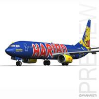 boeing 737-800 goldbair 3d c4d