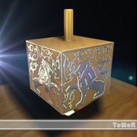 3d dreidel jewish holiday