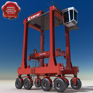 3ds max kalmar straddle carrier