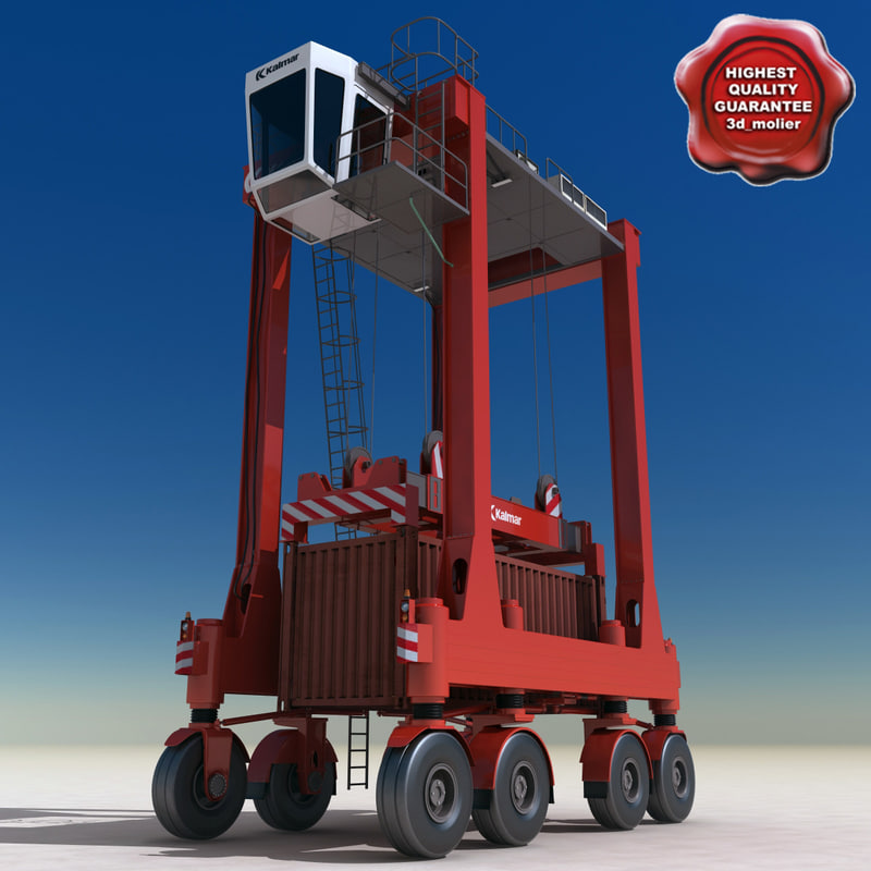 kalmar straddle carrier container 3d 3ds