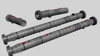 sith darth maul lightsaber 3d model