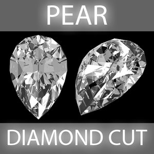 pear diamond cut 3d obj