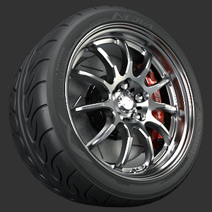 3d model wheel work emotion 11r