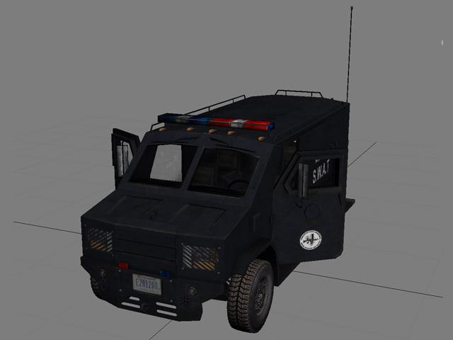 3d swat bearcat model