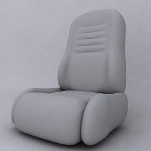 car seat 3d lwo