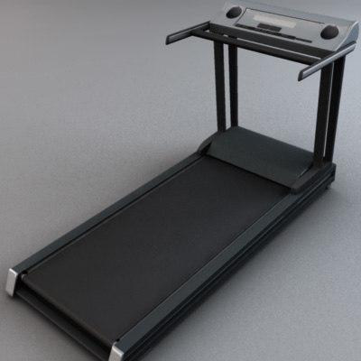 treadmill exercise 3d model