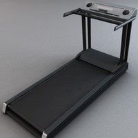 treadmill exercise 3d model