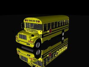 school bus c4d