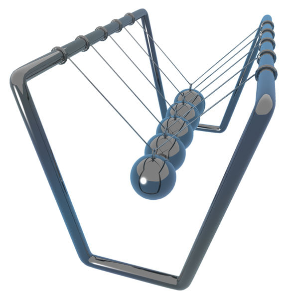 newton cradle 3d model