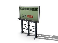 3d model billboard ad