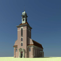 3d model of church spire build