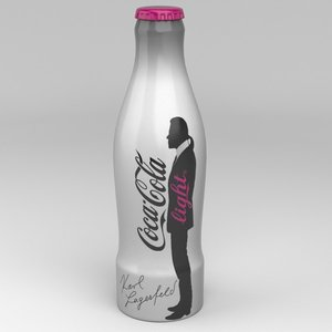 coca cola light karl 3d model