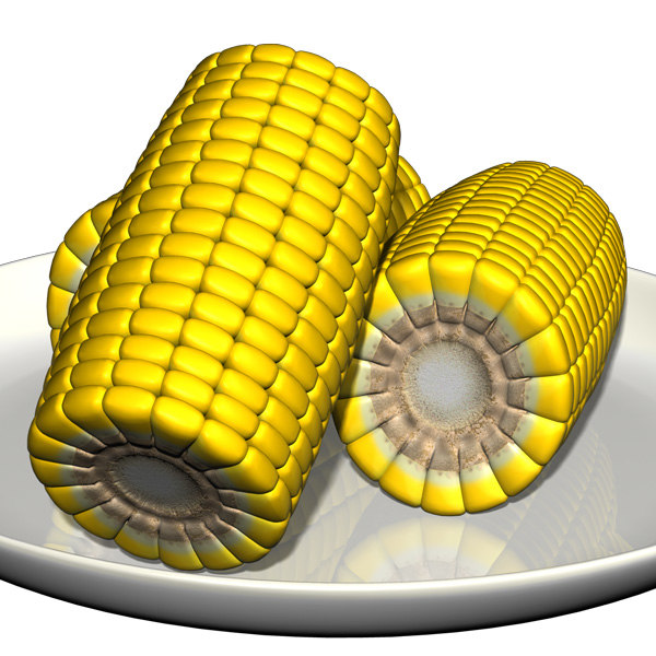cob corn 3d model