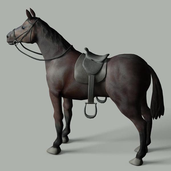 3ds max quarter horse saddle