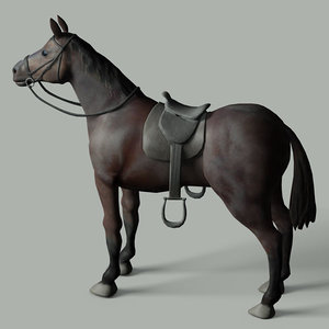 3ds max quarter horse saddle