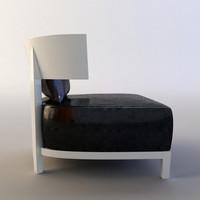 comfortable armchair 3d model