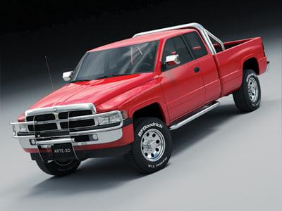 3d model 1996 dodge ram