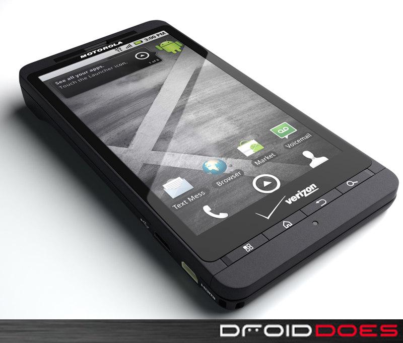 motorola droid x phone 3d model