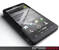 motorola droid x phone 3d model