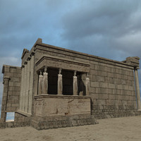 erechtheion greek temple 3d model