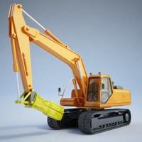 excavator - construction 3d max