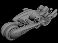 3d futuristic bike model