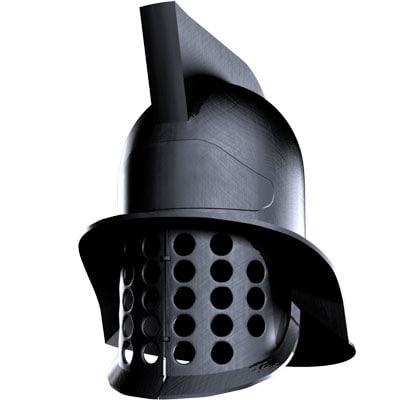gladiator helmet 3d model