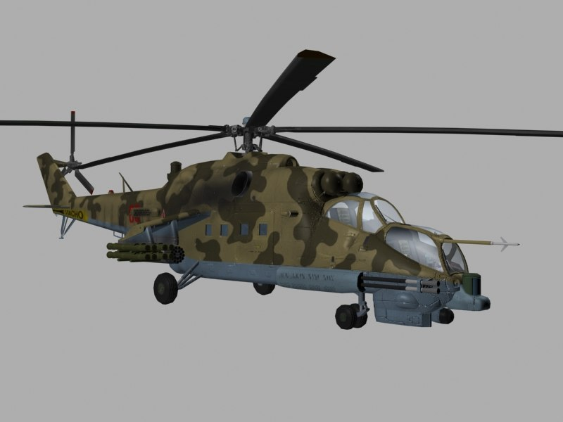 35 hind helicopter russian 3d model