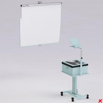 3d model overhead projector